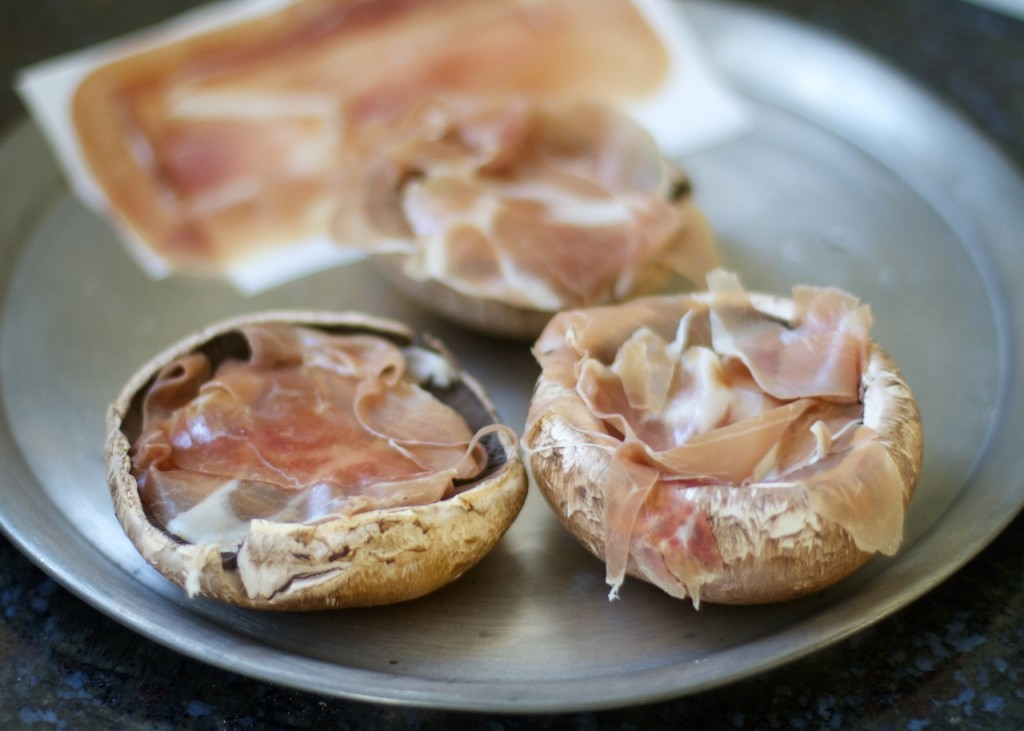 Portobello Mushrooms with Prosciutto