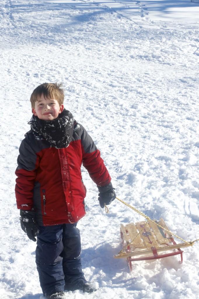Nat and sled