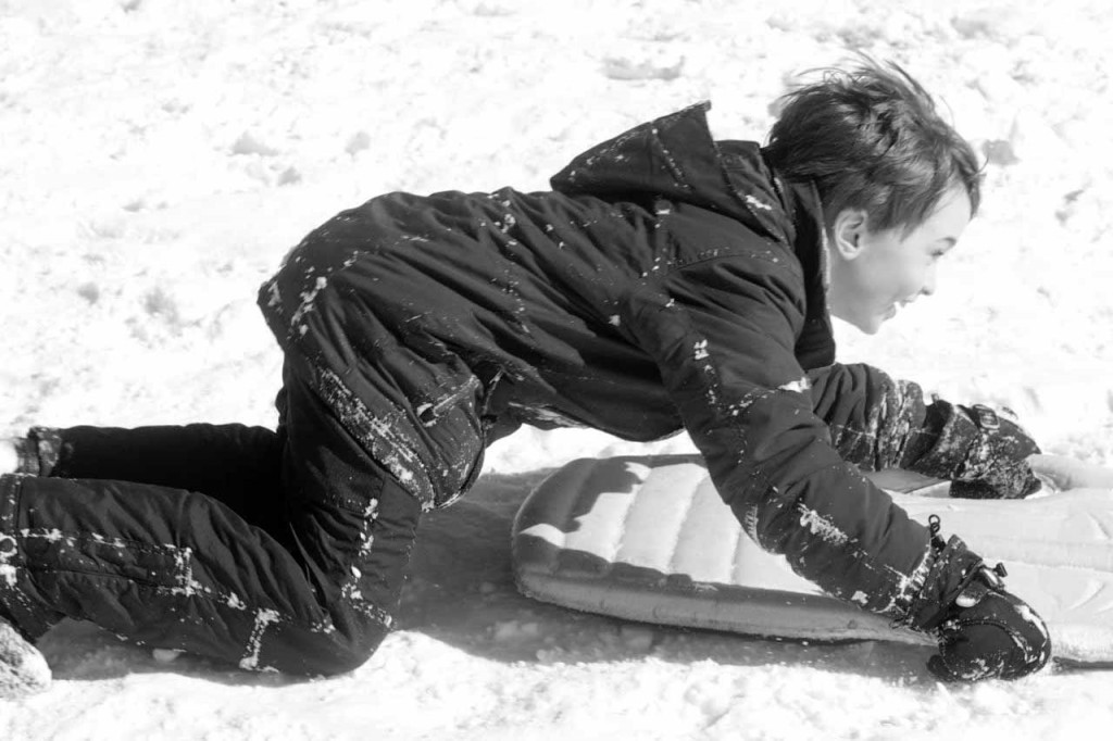 Black and White Sledder