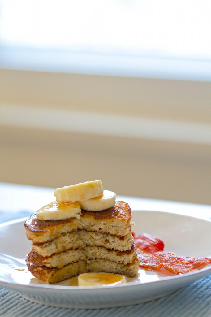 paleo pancakes in the window