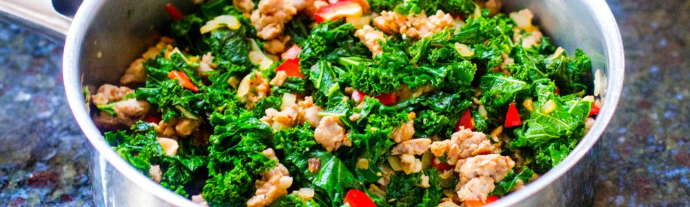 paleo sausage and kale