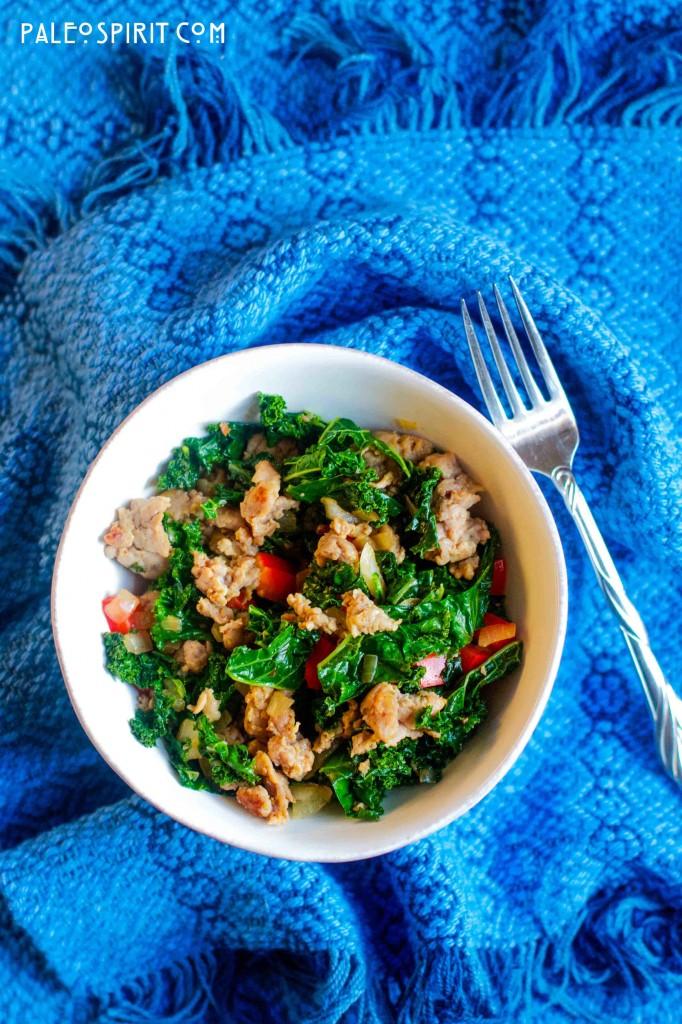 Paleo Sausage and Kale