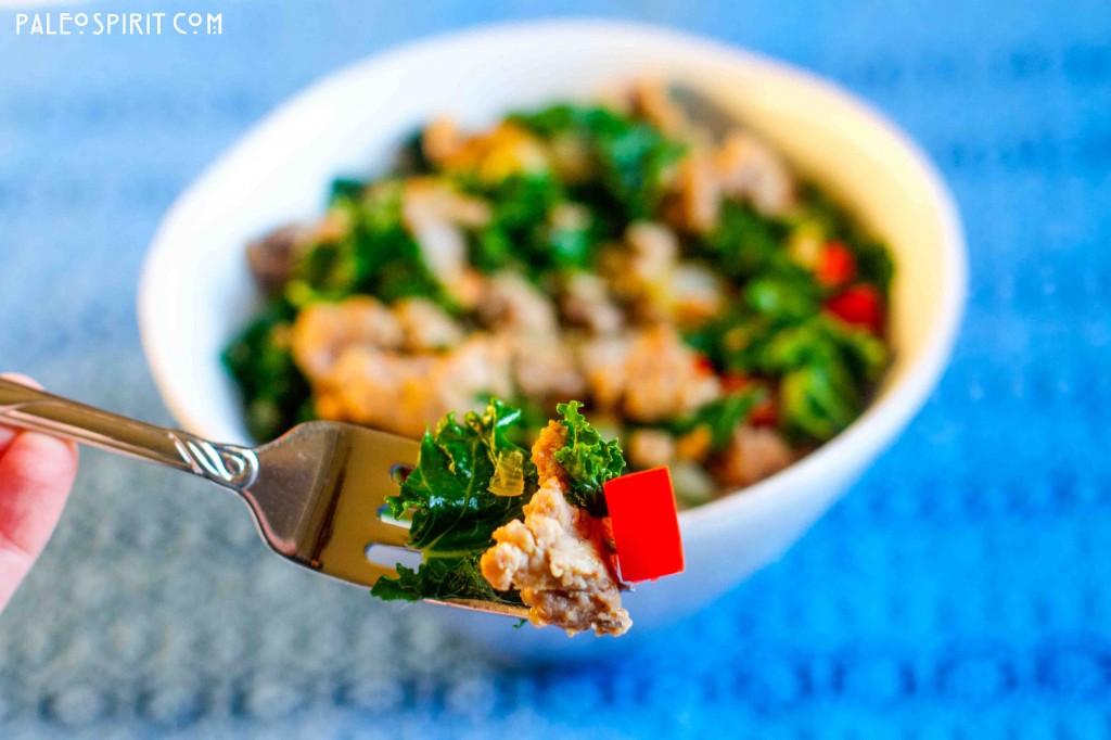 Paleo Sausage and Kale Bite