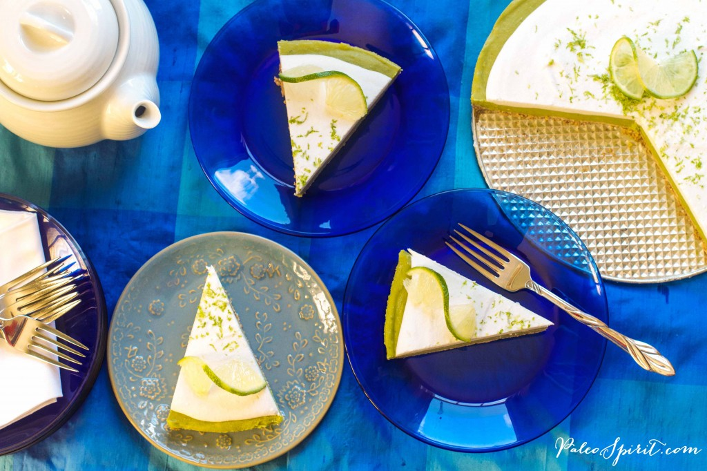 paleo key lime pie slices overhead