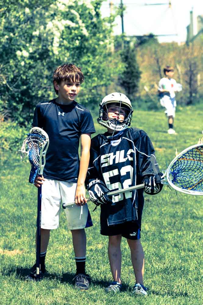 Ben and Nat at Lacrosse