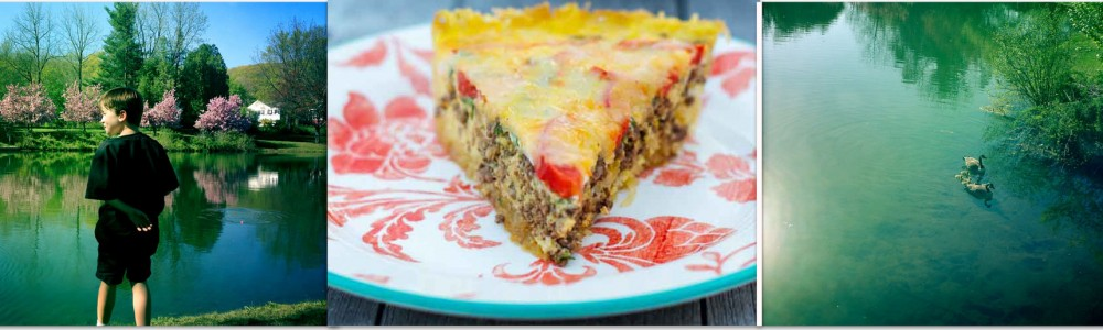 paleo quiche with spaghetti squash crust
