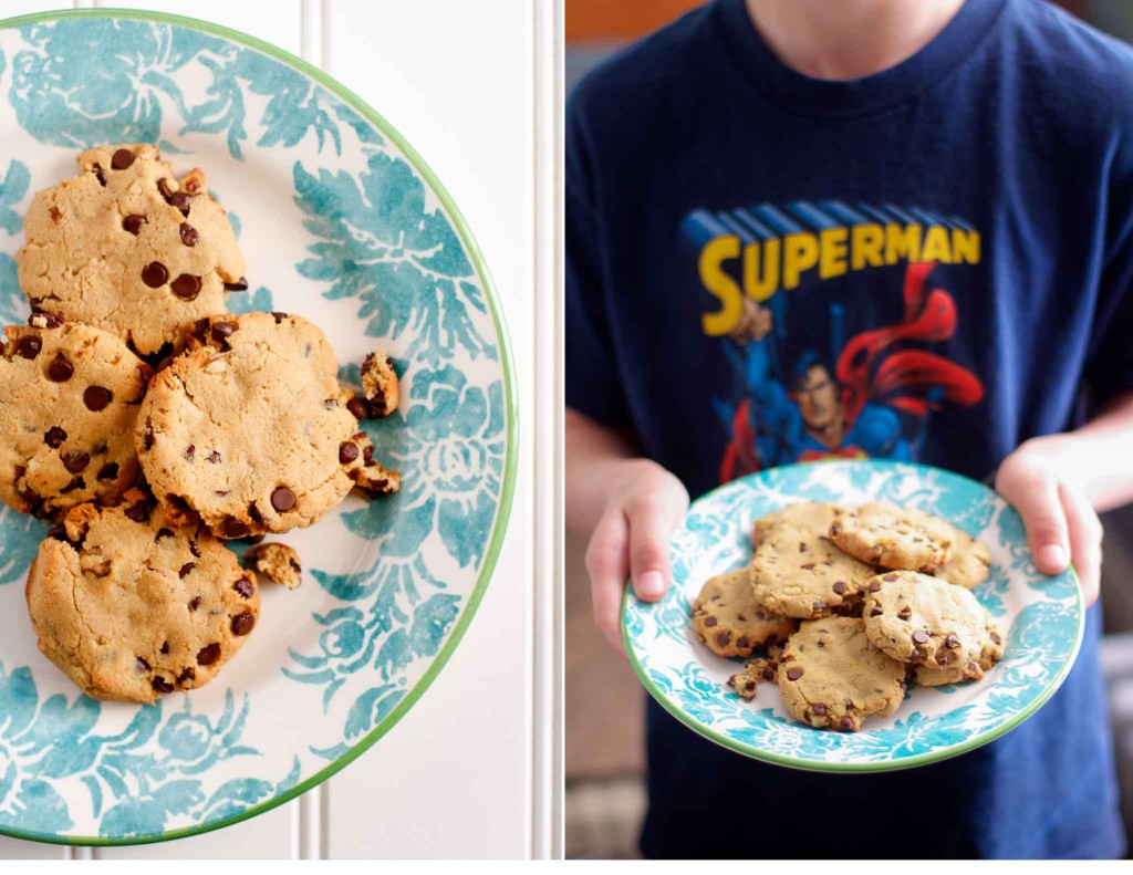 Paleo Chocolate Chip Cookies with Walnuts
