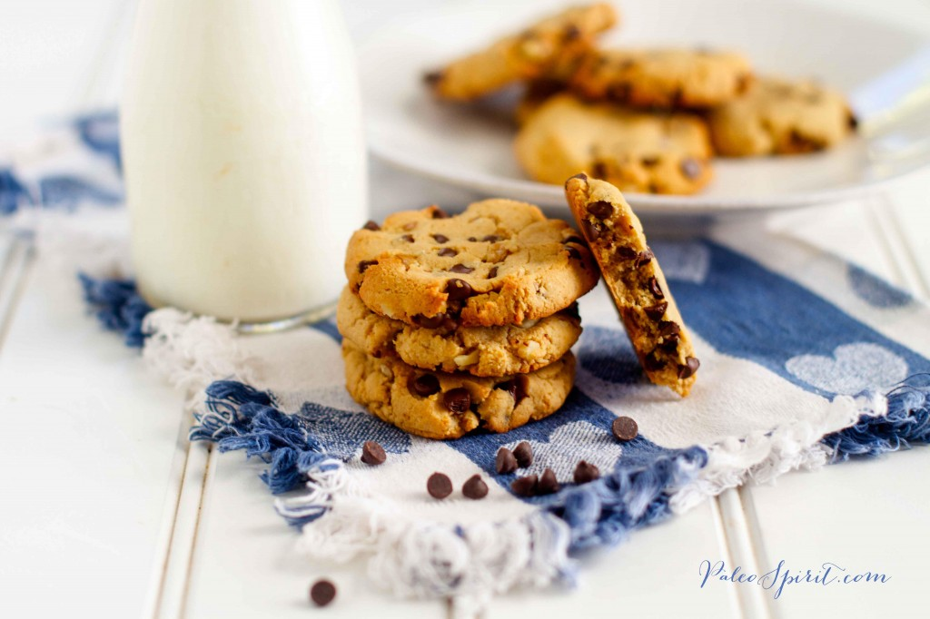 Paleo Chocolate Chip Cookies with Walnuts