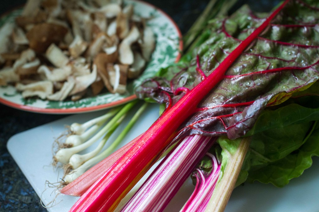 Rainbow Chard with Shiitake Mushrooms