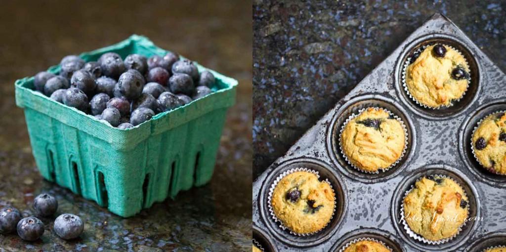Paleo Blueberry Muffins Recipe #paleo #glutenfree #dairyfree #blueberrymuffins #paleobreakfast