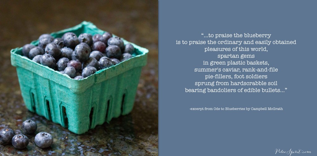 Fresh Blueberries and poem by Campbell McGrath