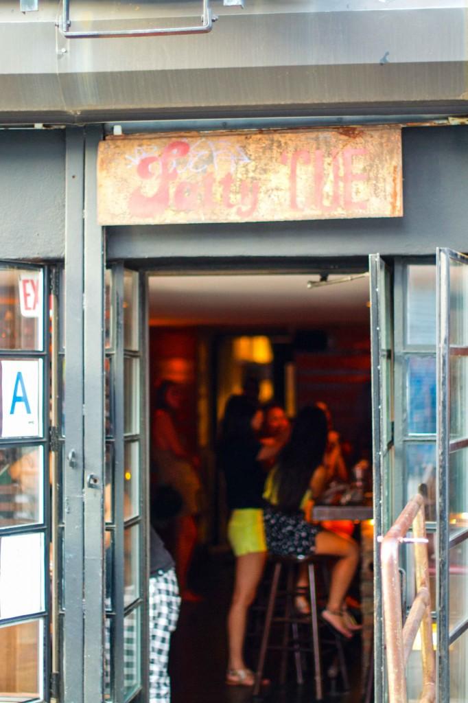 Fatty 'Cue front door sign