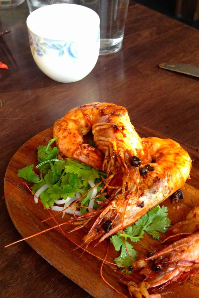 Fatty 'Cue shrimp