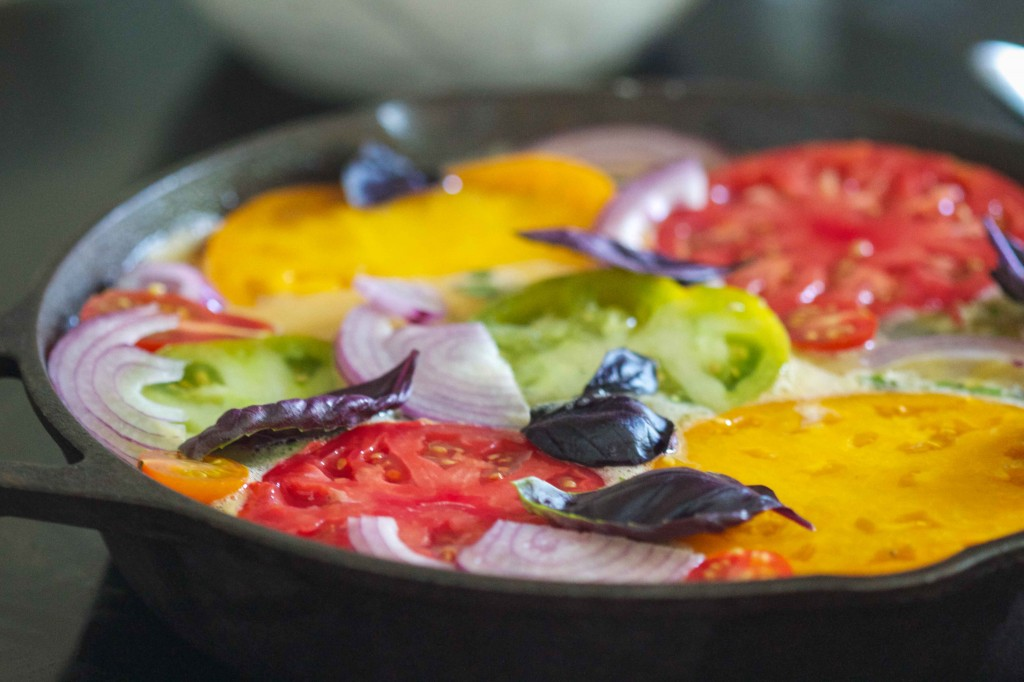 Heirloom Tomato Frittata raw