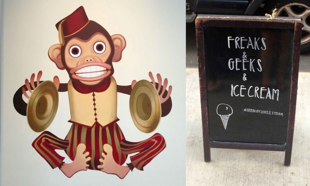 Oddfellows  monkey and geeks sign