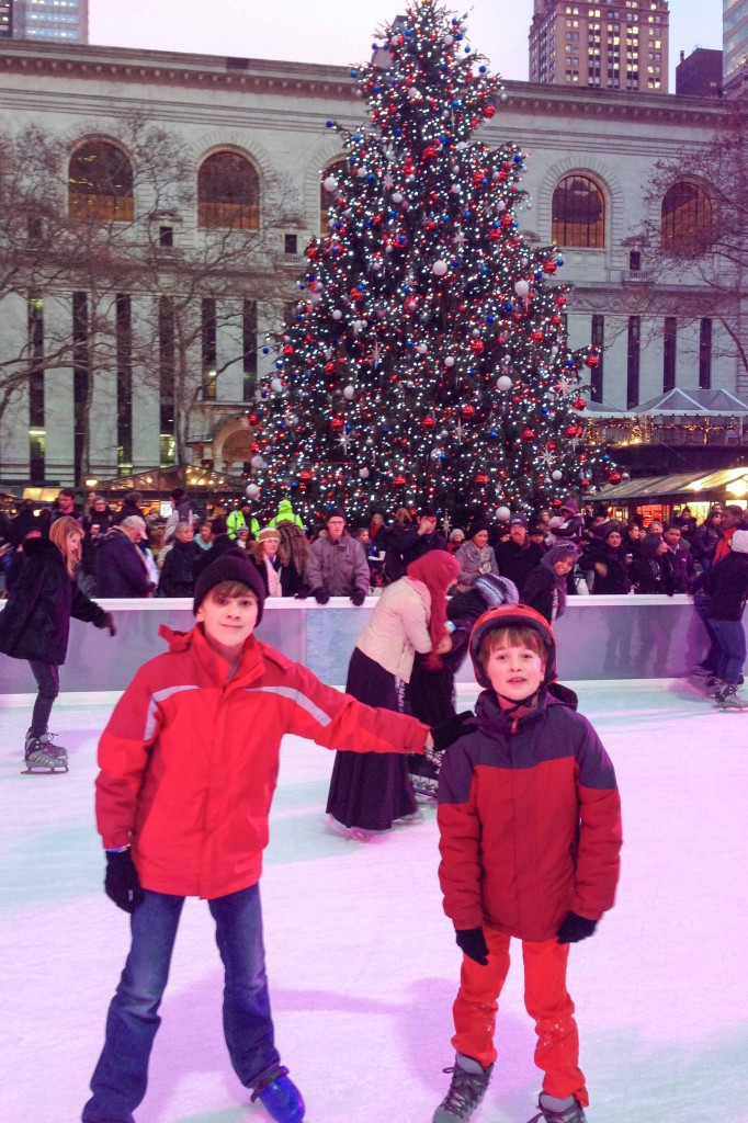 Boys at Bryant Park Rink-2
