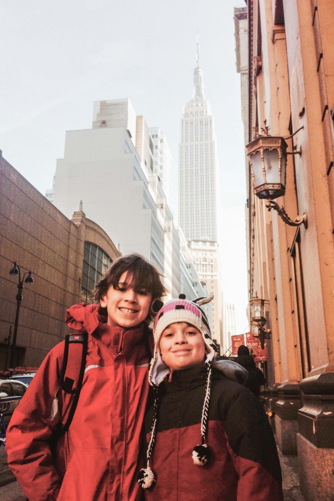Boys with Empire State Building