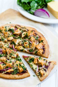 BBQ Chicken Pizza on Paleo Pizza Crust | @paleospirit