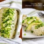 Creamy Paleo Chicken Enchiladas Verdes