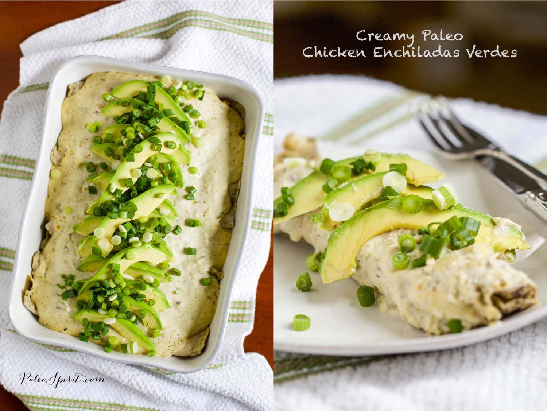 Creamy Paleo Chicken Enchiladas Verdes | Paleo Spirit