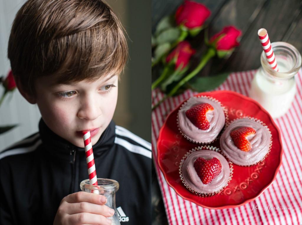 Paleo Chocolate Cupcakes with Strawberry Cashew Cream | Paleo Spirit