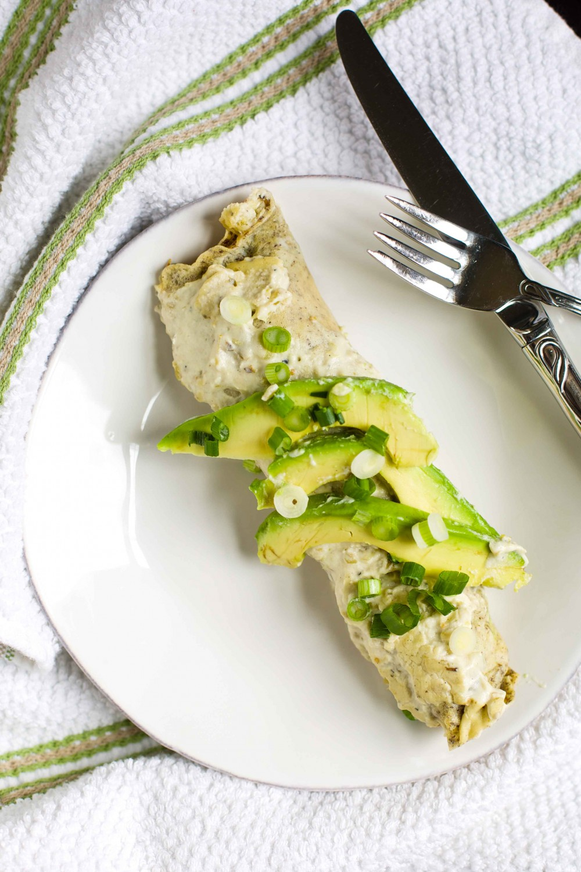 Creamy Paleo Chicken Enchiladas Verdes | Paleo Spirit #dairyfree # ...
