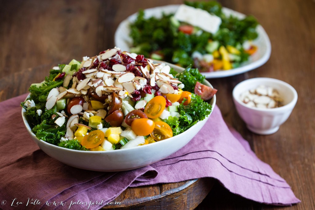 Marinated Kale Salad with Lemon Vinaigrette | @paleospirit