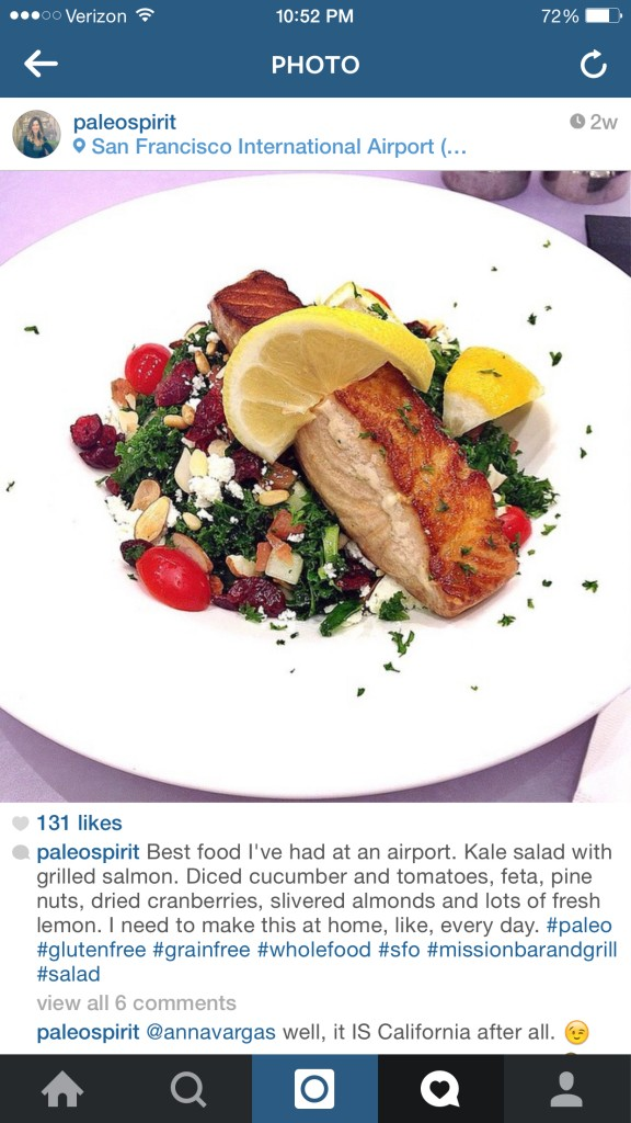 Kale Salad at SFO airport