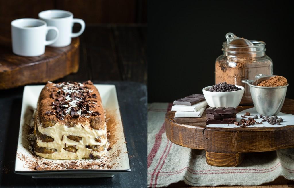 Tiramisu and chocolate