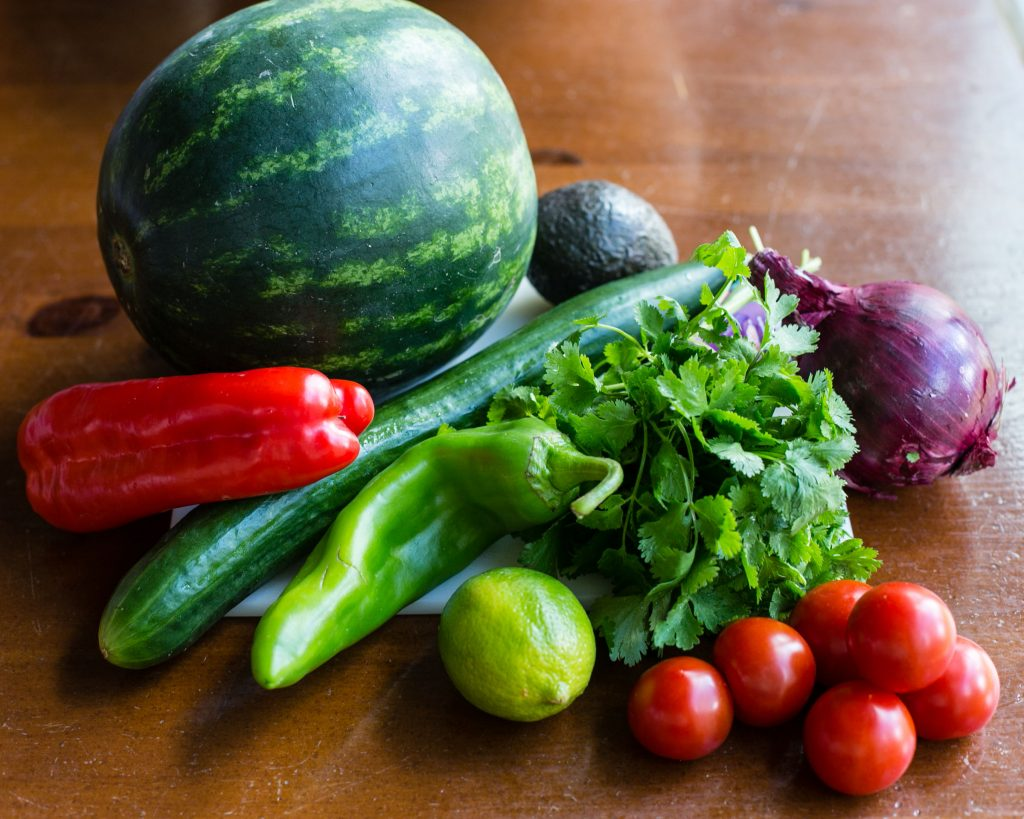 Spicy Watermelon Gazpacho Ingredients #vegan #paleo