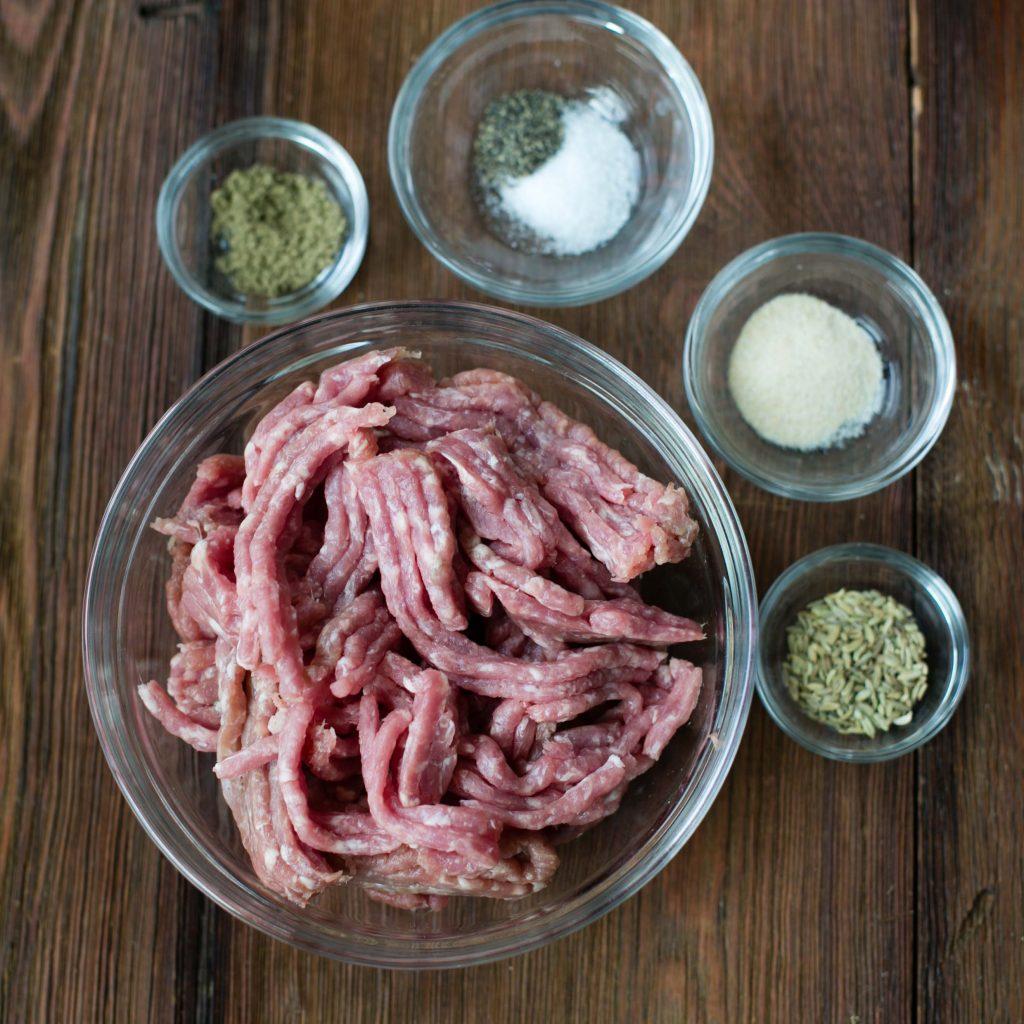 Paleo Breakfast Sausage ingredients