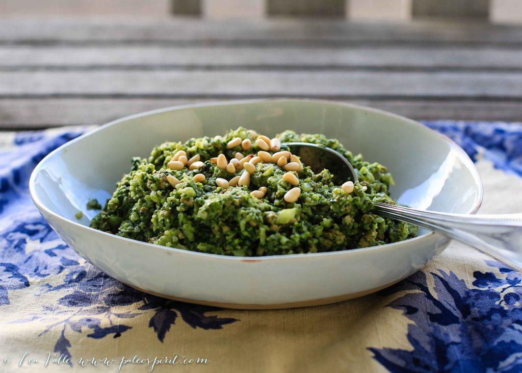 paleo creamed spinach cauliflower rice