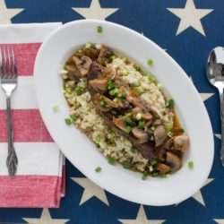 Asian-Style Boneless Beef Short Ribs with Cauliflower Rice
